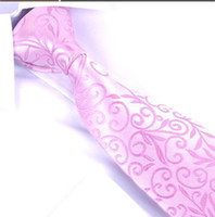 Wholesale Light Pink Silk Jacquard Classic Woven Man s Tie Necktie