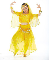 Cheap 12set lot Tribal Belly Dance Costume Suit Stage Dancing Garment (Lantern Top + Glitter Dot Skirt + Coins Belt) tsc07s3