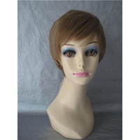 Light Brown Straight 8 Beautiful Classic Straight Light Brown Women Short Wig Cheap Synthetic Wigs for Sale Online 066
