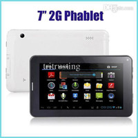 Wholesale Freeshipping inch inch Phone Call Tablet GSM G Android Allwinner A23 Dual Core Ghz MB GB Dual Camera WIFI Blutooth Retail