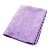 Wholesale Plastic Case Faux Chamois Water Absorb Hair Drying Towel Purple x x cm