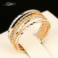 Wholesale Love Unique Chic Rounds Vintage Finger Rings K Gold Plated Fashion Brand Punk Jewellery Jewelry For Women DFR108
