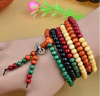 Wholesale Buddhist elements Sandalwood prayer beads malas Fashion wooden beaded bracelet