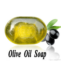 Wholesale Transparent Olive Oil Soap g pc For Face Moisturizing Skin Castile Soap Bath Shower