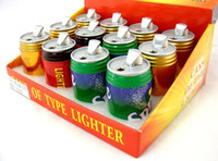 Wholesale Mini cans windproof topping up wang laoji lighter beverage cans lighter