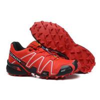Flat salomon shoes - 2013 Hot New Salomon Speedcross shoes Solomon shoes for Men Red Athletic shoes size US
