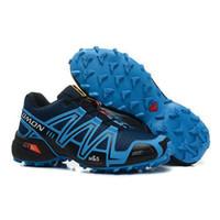 Flat shoe factory - Factory Outlet Top Quality Zapatillas Salomon Speedcross Shoes for Men Sapphire Athletic Solomon Walking Shoes size us