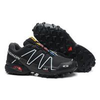 Flat zapatillas salomon - Hot New Salomon Shoes Au Speedcross shoes Running Tenis Designer Zapatillas Hombres de correr Black