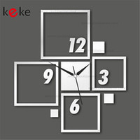 Cheap Home Decoration Mirror Effect Ring Wall Clock Modern Design 3D Interior Decoration Living Room DIY Wall Watches