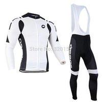 Wholesale 2014 Men assos Ropa ciclismo long cycling jersey Bicycle bicicleta mountain bike maillot shirt clothing bibs pants set