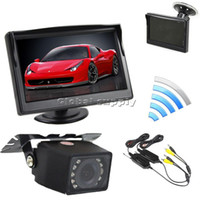 Cheap 5 Inch Video Car Monitor + IR Car Camera Rear View Security System Wireless Parking Reversing System Kit For Car Van Truck+ car styling