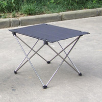 Wholesale Portable Foldable Ultra light Aluminium Alloy Table Desk Camping Outdoor Picnic Folding Table Grey H10835