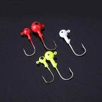 fishing jig head hooks - 2 g Lead Round Head Carbon Steel Carp Fishing Jig Hooks Sharp Fishhooks Set Fishing Tackles Colorful set H12279