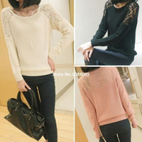 Women womens jumpers - Fashion Casual Women s Round Neck New Knit Jumper Pullover Sweater Coat Tops knit cardigan womens sweaters