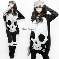 cardigans women - 2014 Casual Sexy Dress Plus size Casual Skull Slim Knitted Sweater Dresses New Autumn winter Hot Women SV000291knit cardigan