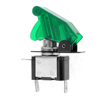 Wholesale DC V A Green LED Illuminated SPST Racing Car Toggle Switch Control ON OFF