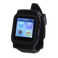 Wholesale Black GB Watch LCD Screen MP3 MP4 Music Video Player TF Card Photo Calendar