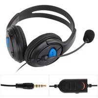 Wholesale Wired Gaming Chat Headset Headphone Microphone for Sony Playstation PS4 Black