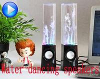 Haut-parleur portable actif de mini de l'USB LED de musique d'eau de danse Haut-parleurs audio de joueur 3.5MM de musique pour le PC MP3 MP4 PSP librement par DHL Livraison gratuite