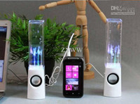 Dancing Water Speaker Altavoces Portátiles Activos LED usb Música Fuente Speaker Soundbox Boombox para MP3 Teléfonos Móviles Computer ZXJ