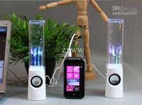Dancing Water Speaker Haut-parleurs portables actifs Portable LED usb Musique Fontaine Haut-parleur Soundbox Boombox pour MP3 Téléphones mobiles Computer ZXJ