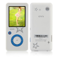 Wholesale ONN V1 GB quot LCD Screen MP3 MP4 Player FM Radio Video Music White Blue