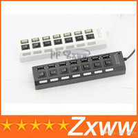 Wholesale 7 Port USB High Speed HUB ON OFF Sharing Switch For Laptop PC HZ
