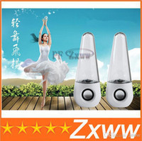 Wholesale New Dancing Water Speaker Active Mini USB LED Light Fountain Music Player Subwoofer for Iphone Samsung Mobile Phone Computer MP3 MP4 HZ