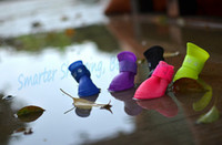 Wholesale S M L Size Candy Colors Dogs Pets Shoes Boots Waterproof Protective Rubber Pets Teddy Dogs Rain Non Slip Shoes Booties