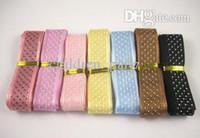 Wholesale quot width mixed color dot printed organza ribbon yards