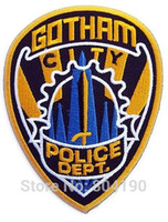 animated cities - BATMAN quot GOTHAM CITY POLICE DEPT quot Uniform Logo Animated Movie TV Series Costume Embroidered Emblem applique iron on patch