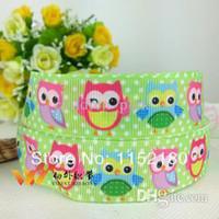 Wholesale new mm owl character printed grosgrain ribbon DIY handmade clothing accessories