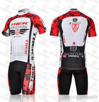 Wholesale Trek bike wear racing team cycling jersey shorts short sleeve jerseys pants bike bicycle riding wear set