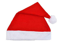 Wholesale New Christmas Holiday Xmas Cap Adult Unisex Santa Hat Costume Christmas hat Gift