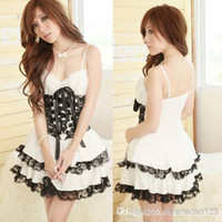 Wholesale Sexy Lady Maid Costume Women Lace Night Gown Lingerie Sex Products Sexy Pyjamas