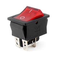 Wholesale AC A V A V Red Light Pin DPDT ON OFF Snap In Boat Rocker Switch