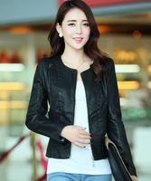 Cheap New 2014 Fur & Leather Jacket Fashion Manteau Women Motorcycle Faux Leather Biker Jackets And Coats jaqueta de couro feminina