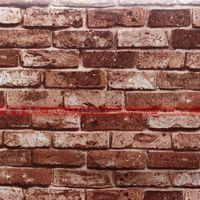 Wholesale Cheap sale brick wallpaper PVC self adhesive vinyl rolls wall decorations living room modern D Wallpapers