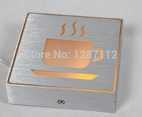 Wholesale Aluminium led red light Sign coffee or tea sign light color can be customized