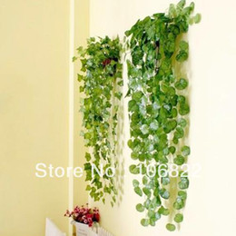 Wholesale Artificial Ivy Vine Green Leaves Foliage Plant Wedding Party Home Decor JX0118 freeshipping