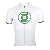 Wholesale Hot sale Green Lantern Mens cycling jersey Biking Rider Apparel Paladinsport Sportwear S XL Cycling Short Sleeves Clothes