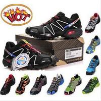 Wholesale MEN Genuine SALOMON SpeedCross CS cross shoes country cross men s running waterproof shoes Colors Worldwide