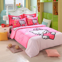 Cheap hello kitty bedding sets Best cartoon bedding set