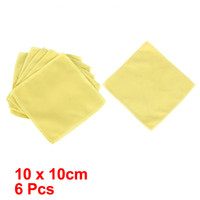 Wholesale Vehicle Car Door Glass Wash Towel Cloth Cleaning Tool Yellow x cm