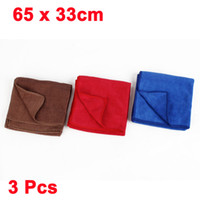 Wholesale 3 Blue Red Coffee Color Car Microfiber Cleaning Towel Cloth x cm