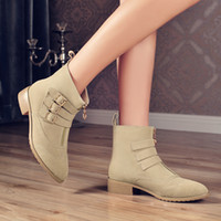 ladies leather boots - Autumn winter new arrival star same winter ladies shoes genuine leather solid winter boot fashion style leather ankle boots