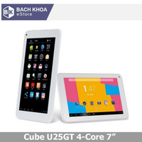 Wholesale Cube U25GT quot android tablet pc IPS Screen x600 MTK8127 Quad Core GHz GPS Bluetooth HDMI Super Edition Camera