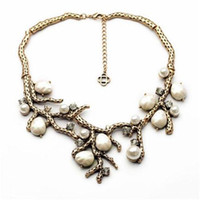 Wholesale Personalized Jewels Sets Tree Branches Shape Women Necklaces cm Women Ear Rings cm Best Design xl00993