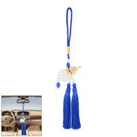 accent plastics - Car Hanging Decor Beads Accent Plastic Calabash Pendant Tassel Blue