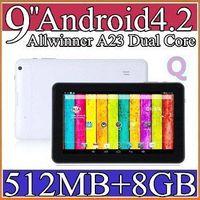 Wholesale 1PCS quot Tablet PC A23 Dual Core Android GT90H M GB GHz WiFi Dual Camera Webcam Capacitive Screen Multi Colors Bluetooth PB9A